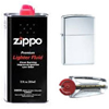 Zippo Set: Lighter, 6 Flints and Fuel (Gift Pack)