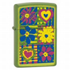 Zippo Hearts and Flowers Lurid Lighter