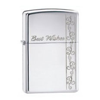 Zippo Best Wishes Polished Chrome Lighter