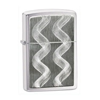 Zippo Double Twister Emblem Brushed Lighter