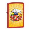 Zippo Aces and Triple 7 Red Matte Lighter